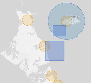 Bahamas Drone Fly Map
