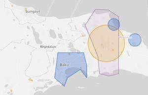 Azerbaijan Drone fly map