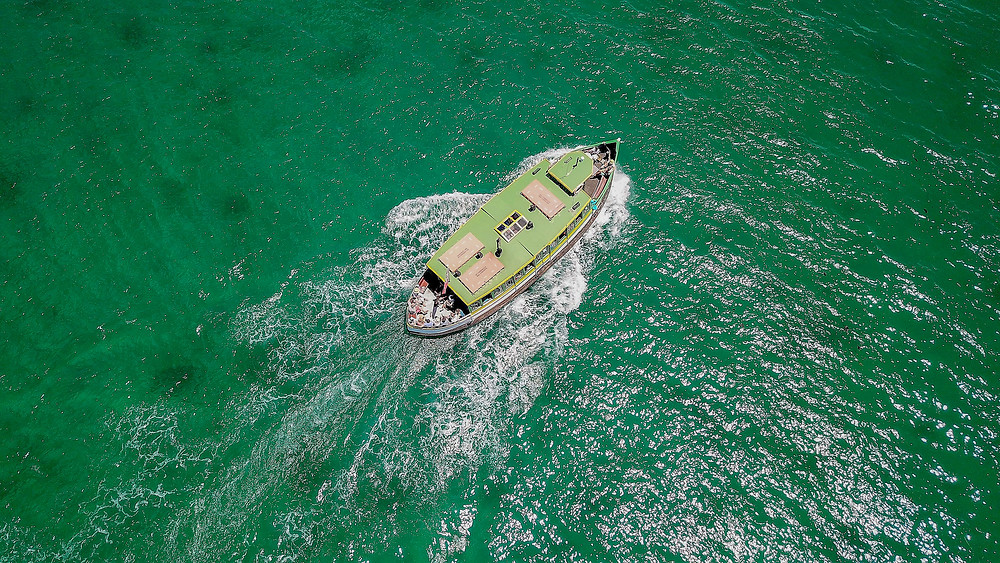 Ferry Photo taken from a drone