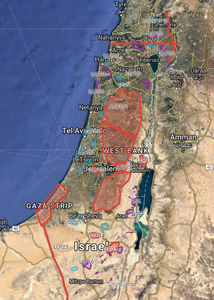 Israel drone fly map