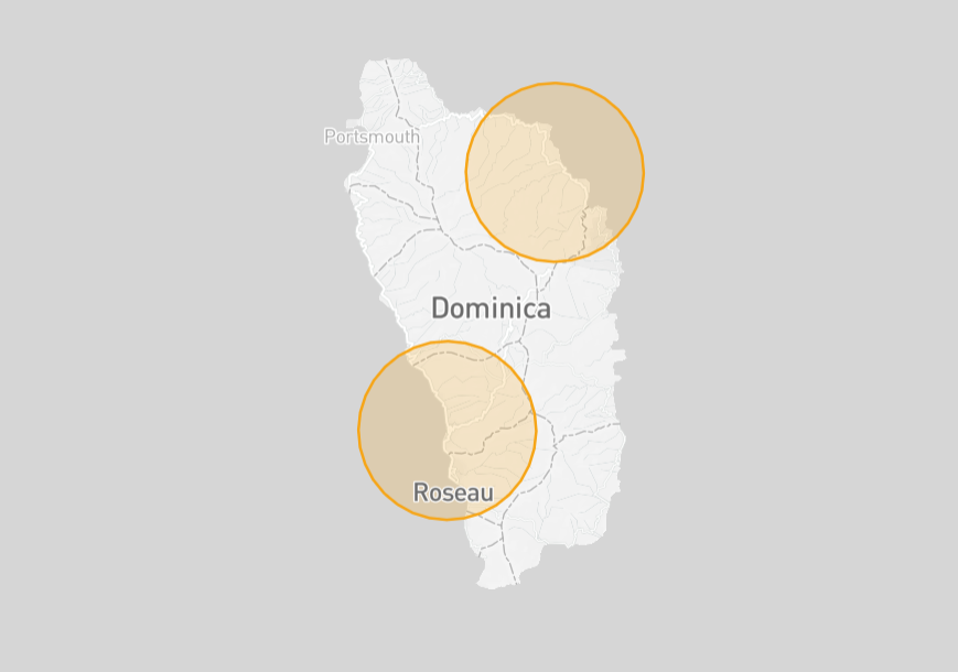 Dominica Drone Fly Map