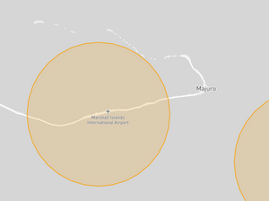 Marshall Islands Drone fly map