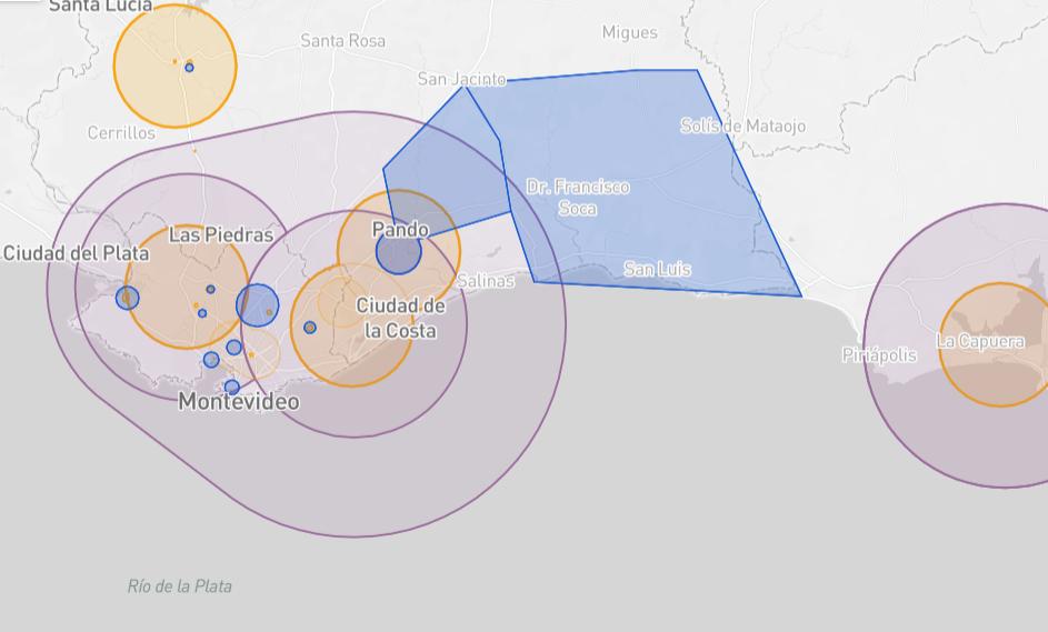 Guyana drone fly map