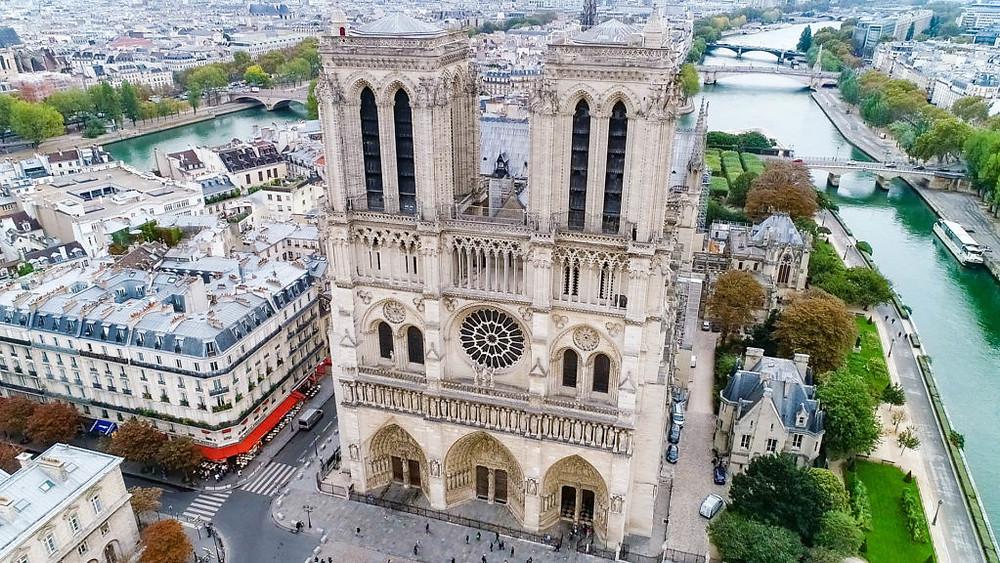 Aerial Photo of Notre Dame de Paris