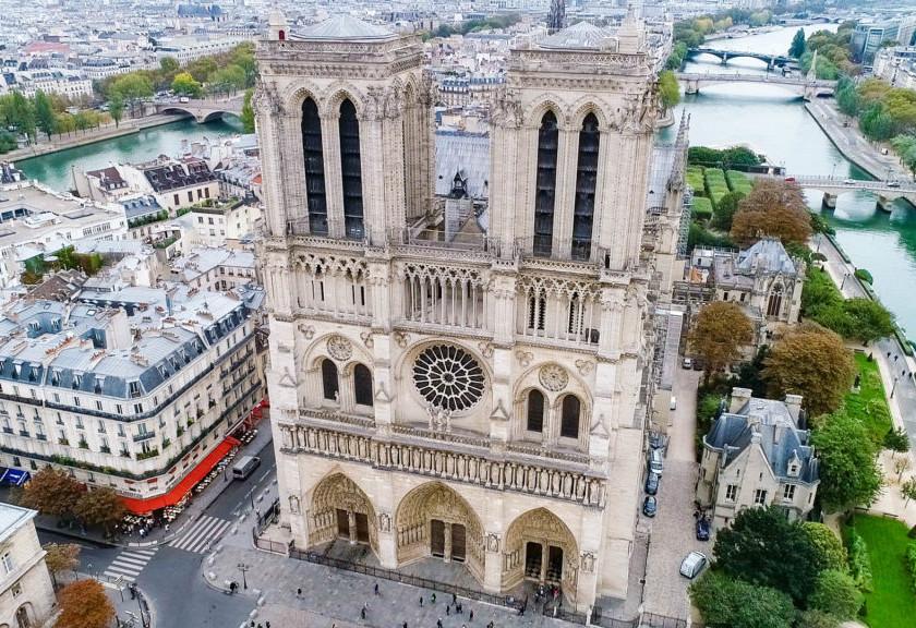 Drone Photo of Notre Dame de Paris