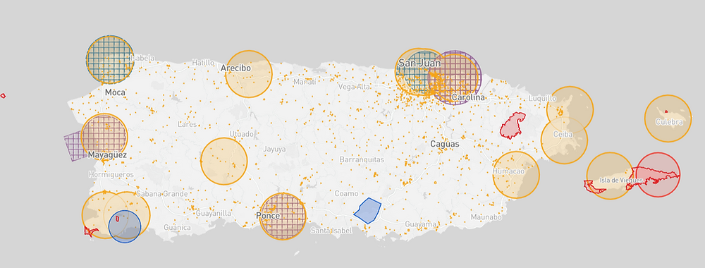 Puerto Rico Drone Fly Map