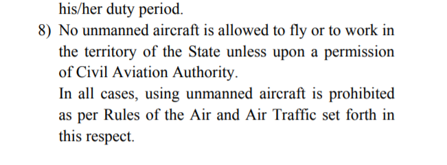 Drone law Egypt