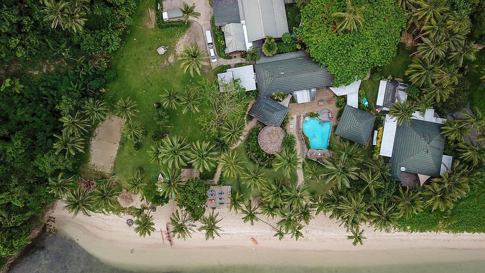 Fiji Beachouse Aerial View