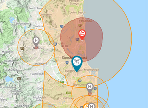 Drone fly map Sunshine Coast