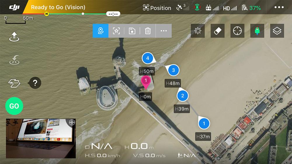 Waypoints 2.0 Intelligent Flight Mode DJI
