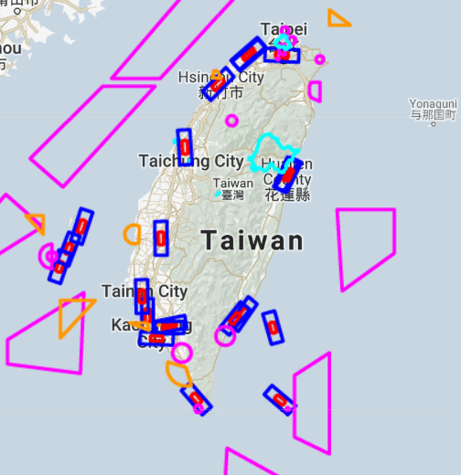 Taiwan drone fly map