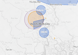 Drone fly map Vietnam