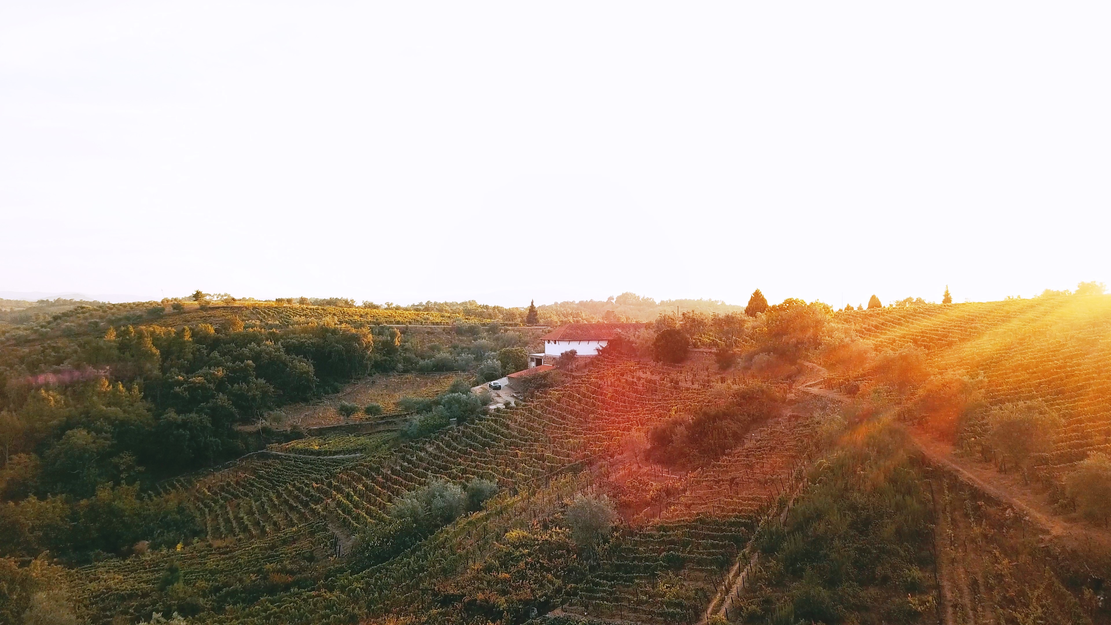 sunset view at Quinta do Roncão