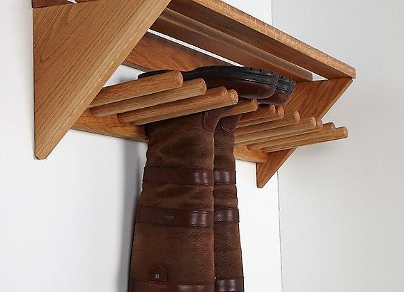Oak Wall Mounted Boot Rack