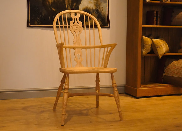 Personalised Georgian Double Bow Stickback Chair