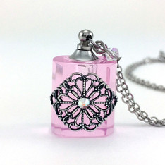 Pink Filigree EO Necklace