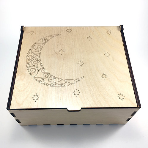 Moon and Stars Essential Oil Storage Box - Large