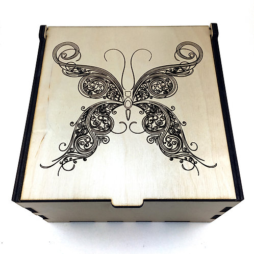 Butterfly Swirl Essential Oil Storage Box - Small