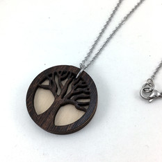 Tree Wood EO Necklace