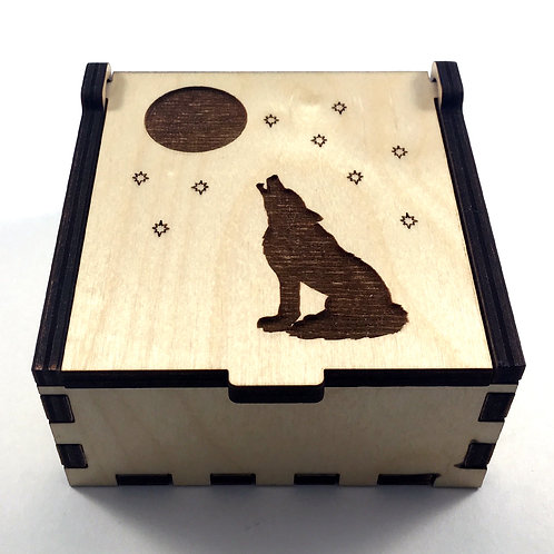 Howling Wolf Jewelry Box