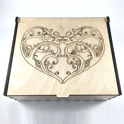 Swirl Heart Essential Oil Storage Box - Large