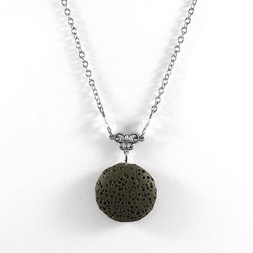 Green Lava Stone Essential Oil Necklace