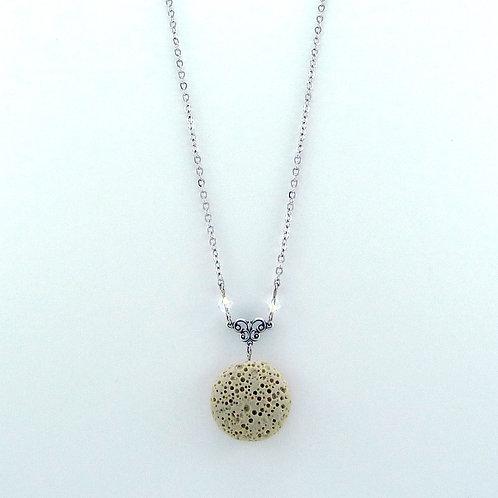Tan Lava Stone Essential Oil Necklace