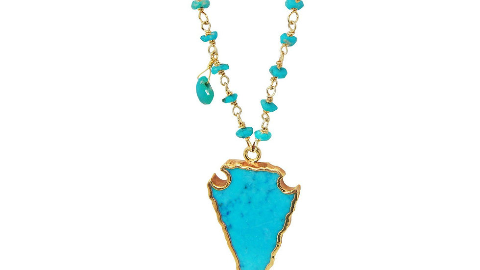 Turquoise Arrowhead Necklace