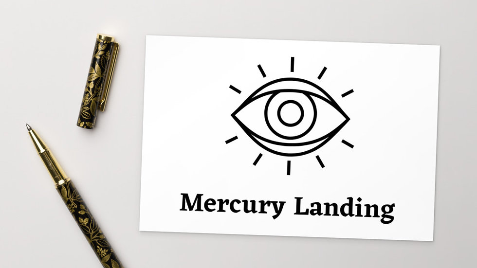 Mercury Landing Postcard
