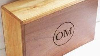 OMSutra Yoga Block - OMSutra Bamboo/Teak Block
