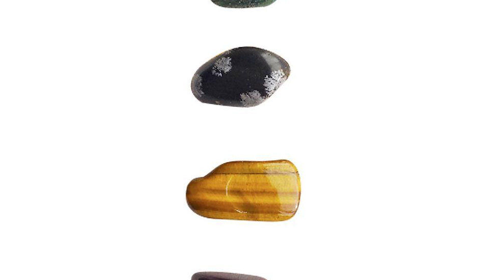 Changing Bad Habits * Moss Agate, Snowflake Obsidian, Tiger Eye & Red Tiger Eye