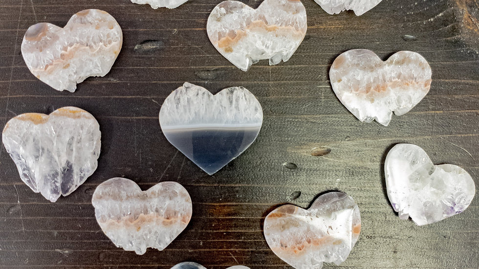 Heart Shaped Amethyst Slices