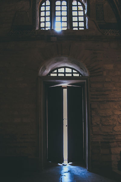 a doorway that is opening