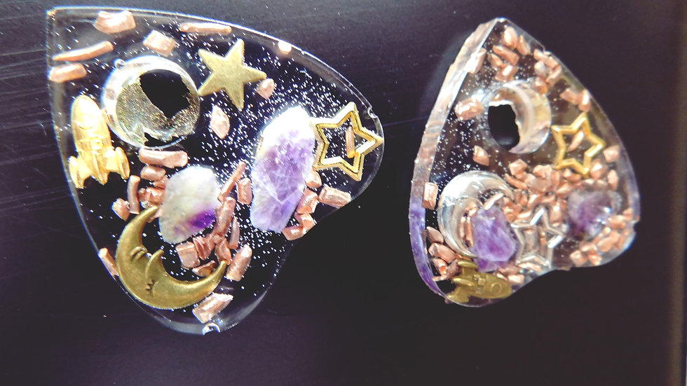 """Out of this world"" Mini Orgone Planchette (2)"