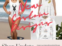 Shop update -- Custom design Apparel