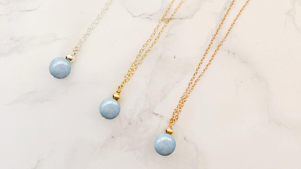 Aquamarine Necklace -- Aries