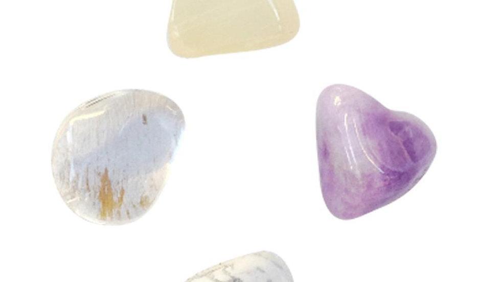 Dream Easy * Amethyst, Moonstone, Crystal & White Howlite
