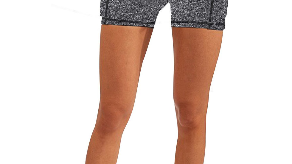 Calcao High Waist Yoga Shorts With Pocket - Grey