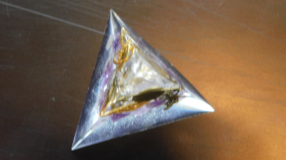 """Out of this world"" 3-sided pyramid"