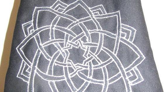 OMSutra  Kids Mandala Yoga  Mat Bag With Saree Lace