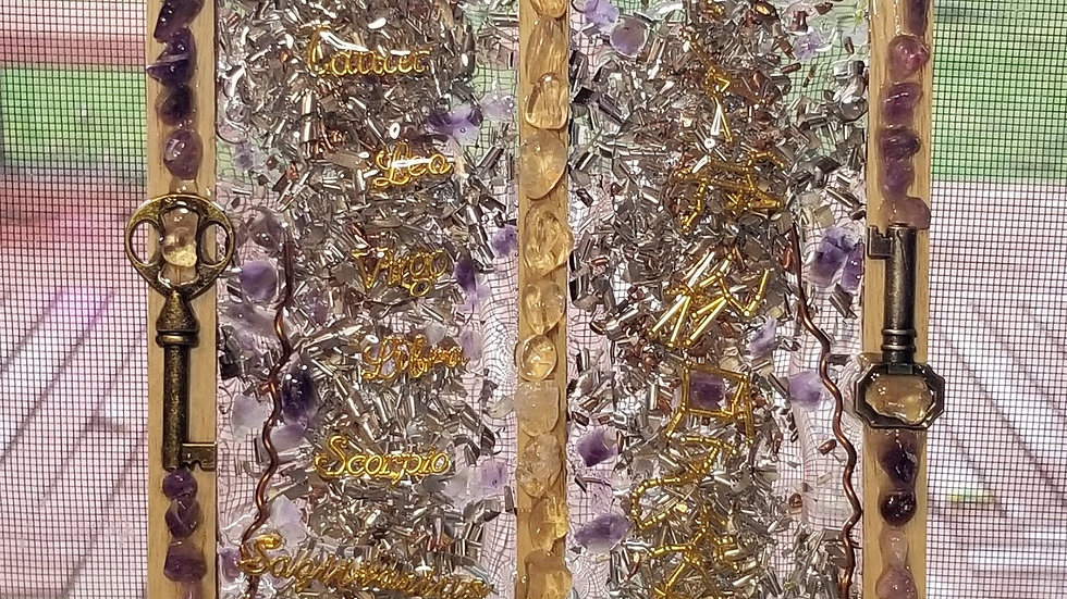 Constellation Wall Hanging (Ameythst & quartz orgone)