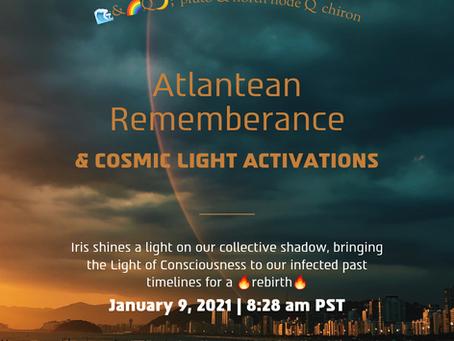 Atlantean rememberance & cosmic light activations | atlantis 1198 asteroid rx |