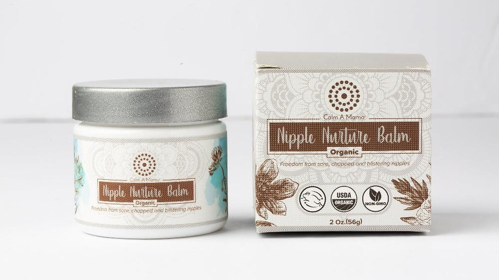 Nipple Nurture Balm (2 Oz) - Breastfeeding Cream - USDA Organic