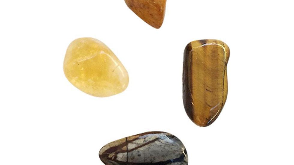 Strength & Grounding  * Yellow Jasper, Citrine, Tiger Eye & Ocean Jasper