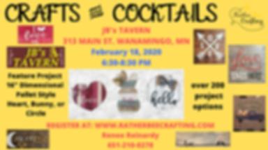 CRAFTS AND COCKTAILS at JBs Tavern