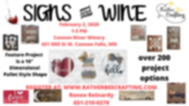 Signs and Wine at Cannon River Winery