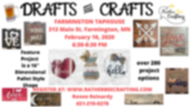 CRAFTS AND DRAFTS at Farmington Tap House