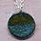 Thumbnail: Silver Enamel Necklace - Yellow White Turquoise Haze