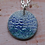 Thumbnail: Silver Enamel Necklace - Ocean Waves