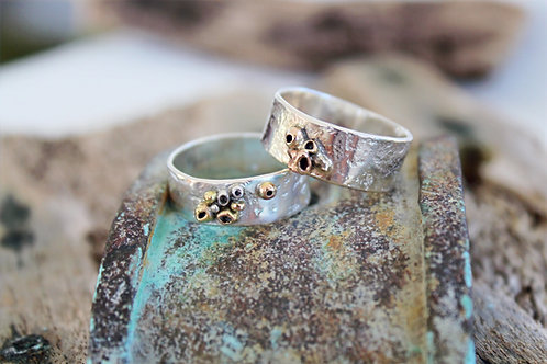 Silver and Gold Barnacle Ring